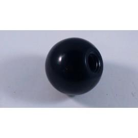 Versnellingspook knop zwart 40 mm m12 schroefdraad